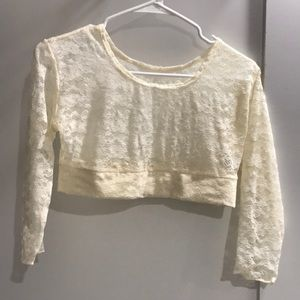 Tops - Lace half t-shirt